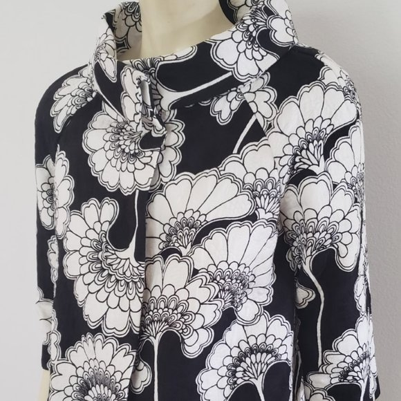 kate spade Jackets & Blazers - Kate Spade black white pop vintage style jacket 6